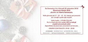 Showroom Natale 2018 Cicognani